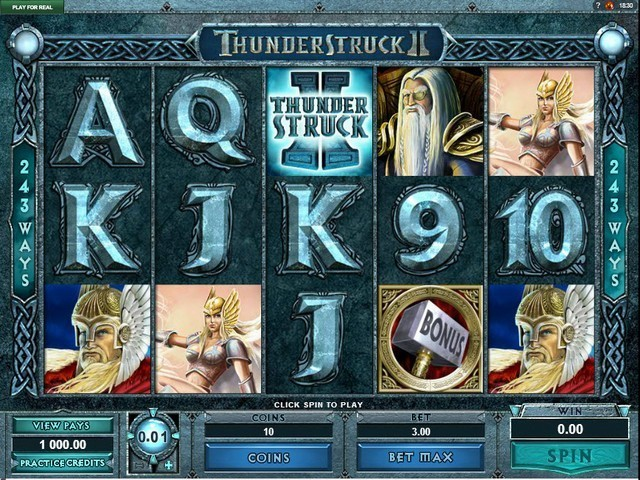 Thunderstruck II Slot Game big