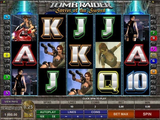 Tomb Raider Slot Game big
