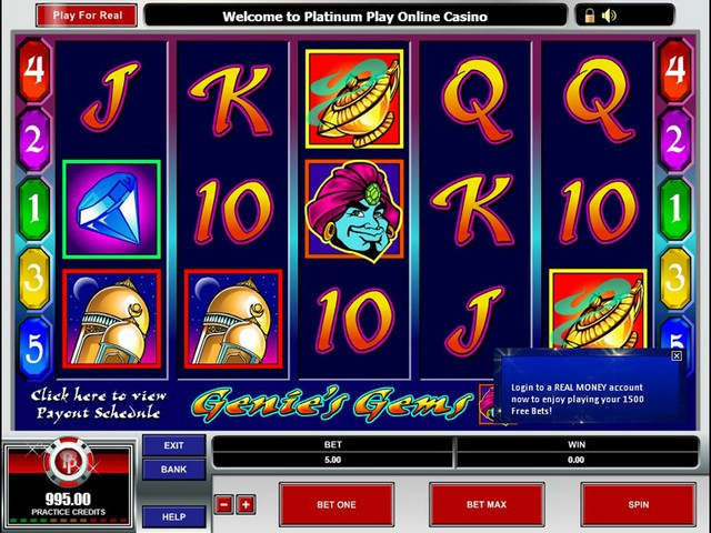 Genie's Gems Slot Game