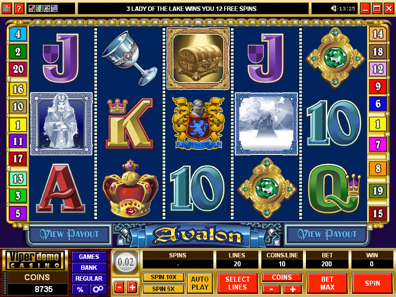 free slots games avalon