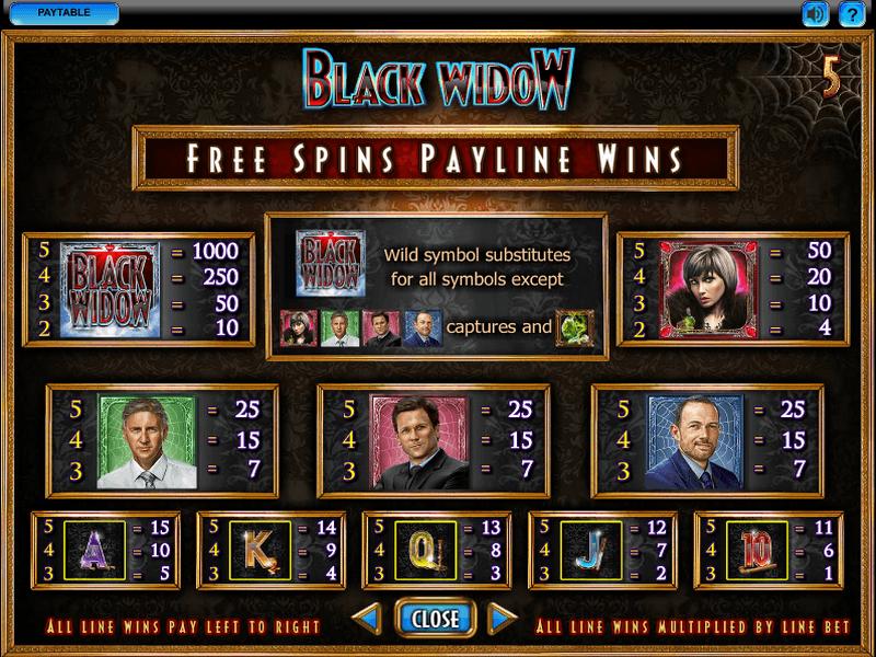 Free Black Widow Slots
