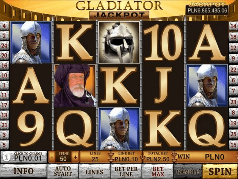 Play Gladiator Jackpot online slots at Casino.com
