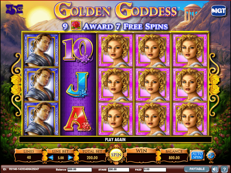 Golden Goddess Free Slots