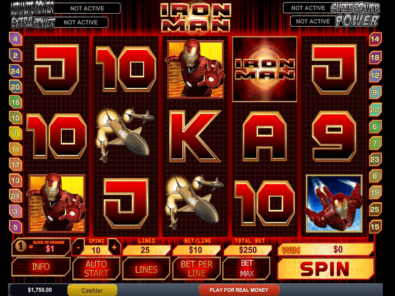 Iron Man Slots - Iron Man Slot Gratis-Download