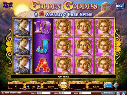 golden goddess free slot game