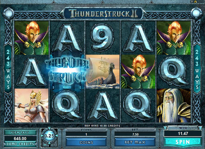 ThunderStruck II™ Slot Machine Game to Play Free in Microgamings Online Casinos